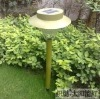 GOOD! Outdoor Garden Solar Light Stainless Steel Long Tube Lamp 8LED Lamp