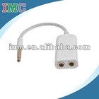 IMC Dual 3.5mm Jack Stereo Headset Splitter Adapter for Apple iPad (IMC-XIIPA-0737)