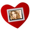digital photo frame with red heart design,good electronic gift