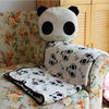 plush panda cushion with blanket