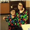 New Autumn clothes---Parent-child loaded long sleeve sweater for families 2476