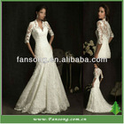 Hot Sale Elegant With Applique Long Sleeve Lace Wedding Dresses