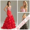 2012 Best Selling Mermaid Style Organza Fashion Evening Dress