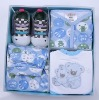 100% Cotton Fashionable Baby Gift Set for 0-6 Months