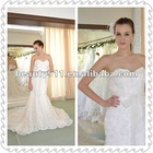 A-line Lace Decorated with Butterfly Belt Empire Waist Strapless Wedding Dress WDS28
