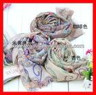 ladies fashion scarf cheap colorful silk
