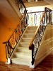 indoor straight wrought iron stair