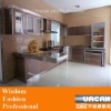 0.5mm thickness aluminium kitchen cabinet design with bar counter/glass door/removable island