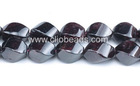 10x16mm Garnet Twist Rice Beads