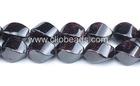 10x16mm Garnet Twist Rice Beads