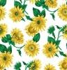 yellow flower Fabric shower curtain