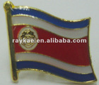 Costa Rica flag pin,16mm metal world country flag lapel pin