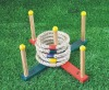 Wooden ring toss game Kids outdoor game