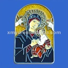 Enamel Colored Resin Religious Plaque of The Virgin Mary Figurine, Christian Religion Crafts