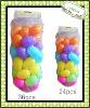 Plastic colorfull eggs for easter