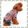 Thailand grid summer piece pants dog clothes