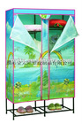 2012 hot sale latest PE composite non-woven fabric with iron tube Hanging wardrobe cover