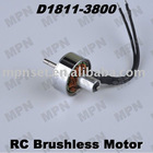 RC Hobby Brushless Outrunner Electric Motor DC D1811-3800