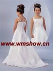 2011 New Design White Beaded Flower Girl Dress
