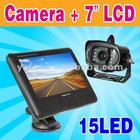"""Wireless Car Rearview Camera +7"""" Color LCD Monitor N107/P107"""