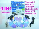 F01845 New 9 in1 Flight RC simulator Cable W/ Phoenix 3.0 RealFlight G5 G4.5 Reflex XTR AeroFly FMS,Esky FUTABA JR