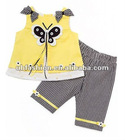 NEW baby clothing sets with butterfly shirt and pants