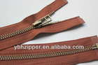 #5 Top-quality old-brass Zips with Open End