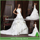 New Arrival Elegant Taffeta Lace-up Back Bridal Dresses 2012