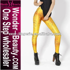 Yellow beer galaxy series fashion legging