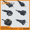 CE certified male to male ac power cord