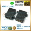 180 degree hdmi adapter, male female plastic connectors