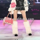 2011 best selling all over the word faux fur knee pad