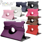 360 Degree Sleep Wake Rotating PU Leather Case Cover For Google Nexus 7 Tablet
