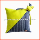 100% cotton yellow decorative pillows
