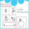 LL-SS035 6pcs red bathroom hardware accessories set