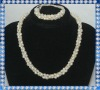 elegant design 6mm rice fresh water pearl set