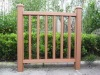 wooden gardon fence(wood plastic composite)