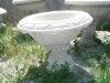 white granite stone garden planter