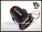 Fashion type dual USB car charger/1-2.1A output