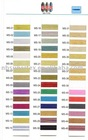 metallic yarn color card