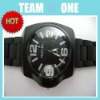 Black Version Wrist Watch with Silicone Wristband UDTEK00802