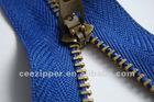 3#YG slider anti-brass metal zipper,semi lock,eco-friendly,supporting PayPal&Western Union