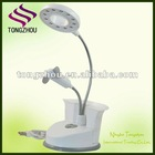 2 in 1 White USB led light with fan
