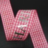 2012 new style plaid ribbon with stamping ribbon