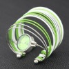 fashion elegant multistrand silver plated arc-shape quartz bracelet watch
