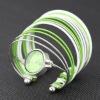 fashion elegant multistrand silver plated arc-shape quartz bracelet watch