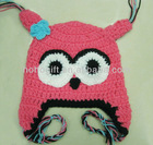 New Baby Girls Boys Cute Owls Animal Crochet Owl Hat