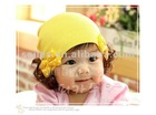 2012 Fashion knitted warm hats for children, hot sell cute warm caps for children