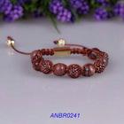 2012 Fashion pave cheap pink shamballa bracelet meaning
