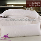 hollow fiber white plain hotel bolster pillow